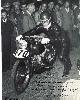 Dedica di Duilio Agostini alla partenza della Milano-Taranto con la moto preparata da Pomi a casa sua (1° al traguardo)